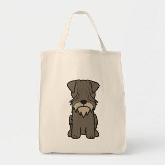 Cesky Terrier Dog Cartoon Tote Bag