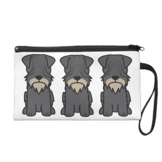 Cesky Terrier Dog Cartoon Wristlets