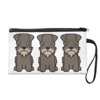 Cesky Terrier Dog Cartoon Wristlet Purses