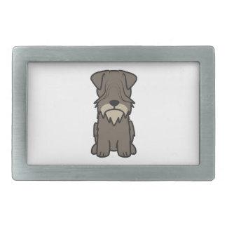 Cesky Terrier Dog Cartoon Rectangular Belt Buckles
