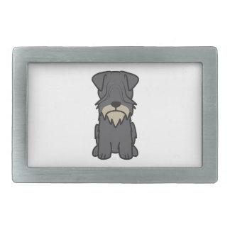 Cesky Terrier Dog Cartoon Rectangular Belt Buckle