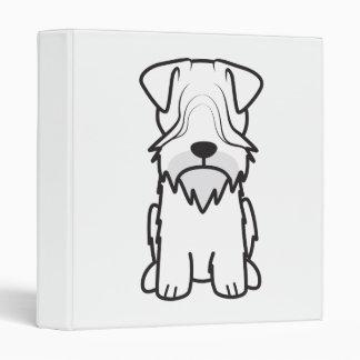 Cesky Terrier Dog Cartoon Vinyl Binders