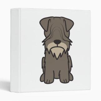 Cesky Terrier Dog Cartoon 3 Ring Binder