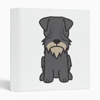 Cesky Terrier Dog Cartoon Vinyl Binder