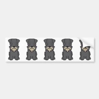 Cesky Terrier Dog Cartoon Bumper Sticker