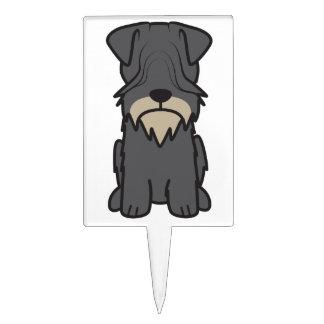 Cesky Terrier Dog Cartoon Cake Pick