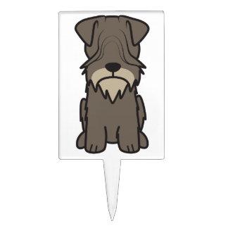 Cesky Terrier Dog Cartoon Cake Picks