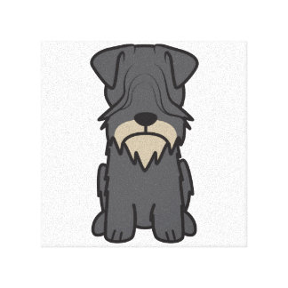 Cesky Terrier Dog Cartoon Gallery Wrapped Canvas