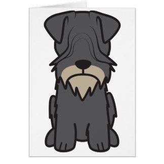 Cesky Terrier Dog Cartoon Card