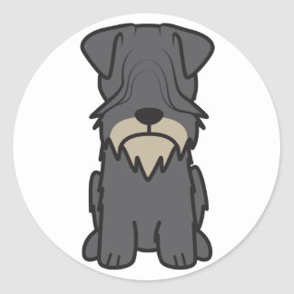Cesky Terrier Dog Cartoon Classic Round Sticker