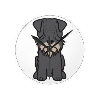 Cesky Terrier Dog Cartoon Wall Clock