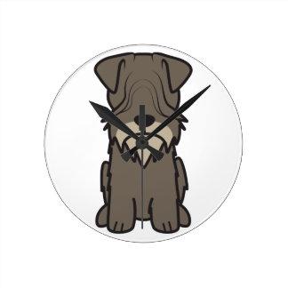 Cesky Terrier Dog Cartoon Clocks