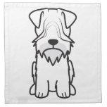Cesky Terrier Dog Cartoon Cloth Napkin