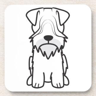 Cesky Terrier Dog Cartoon Drink Coasters