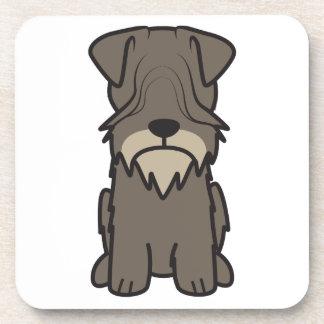 Cesky Terrier Dog Cartoon Beverage Coasters