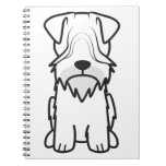 Cesky Terrier Dog Cartoon Journal