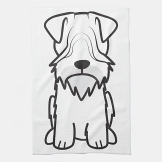 Cesky Terrier Dog Cartoon Kitchen Towels