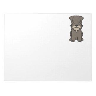 Cesky Terrier Dog Cartoon Note Pads
