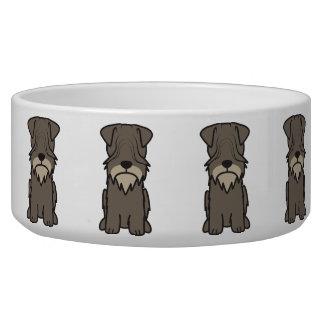 Cesky Terrier Dog Cartoon Pet Bowls