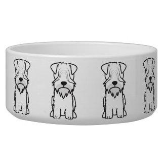 Cesky Terrier Dog Cartoon Dog Bowl