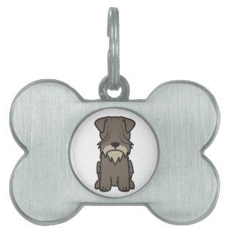 Cesky Terrier Dog Cartoon Pet Name Tags