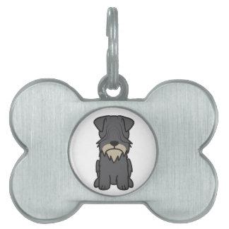 Cesky Terrier Dog Cartoon Pet ID Tags
