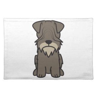 Cesky Terrier Dog Cartoon Placemats