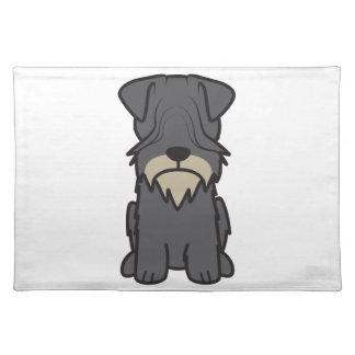 Cesky Terrier Dog Cartoon Place Mats