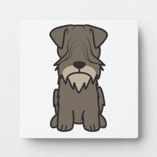 Cesky Terrier Dog Cartoon Display Plaques