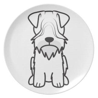 Cesky Terrier Dog Cartoon Party Plates
