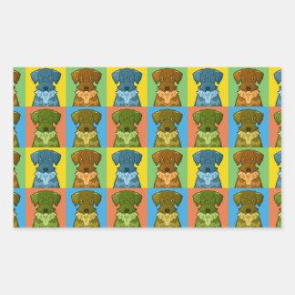 Cesky Terrier Dog Cartoon Pop-Art Rectangular Sticker