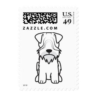Cesky Terrier Dog Cartoon Stamp