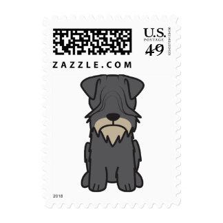 Cesky Terrier Dog Cartoon Postage Stamp