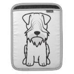 Cesky Terrier Dog Cartoon Sleeve For iPads