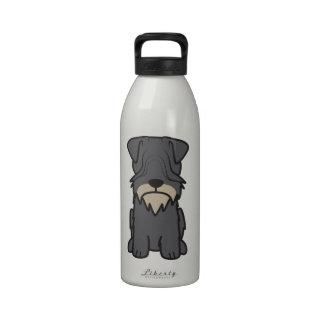 Cesky Terrier Dog Cartoon Drinking Bottles