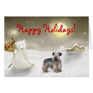 Cesky Terrier Holiday Card