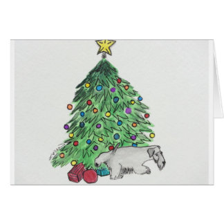 """Cesky Terrier """"My Tree"""" Card"""