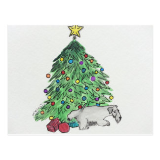 "Cesky Terrier ""My Tree"" Postcard"