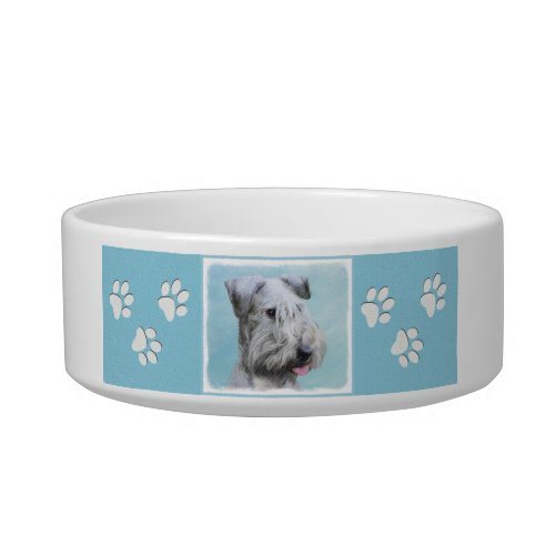 Cesky Terrier Painting _ Cute Original Dog Art Bowl