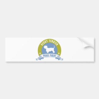 Cesky Terrier Pegatina Para Auto