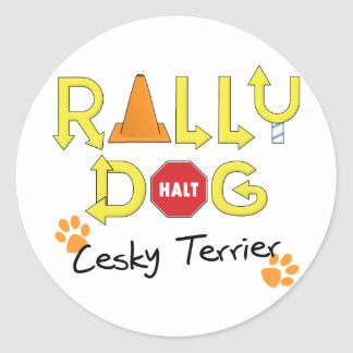Cesky Terrier Rally Dog Classic Round Sticker