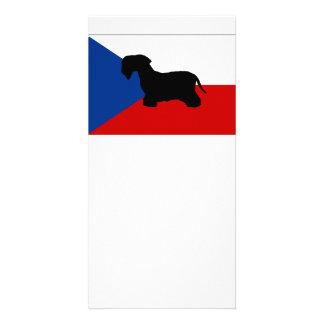 cesky terrier silo czech-republic flag card