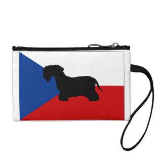 cesky terrier silo czech-republic flag change purse