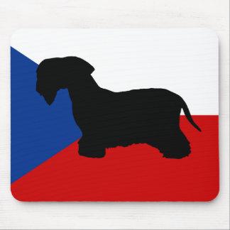 cesky terrier silo czech-republic flag mouse pad
