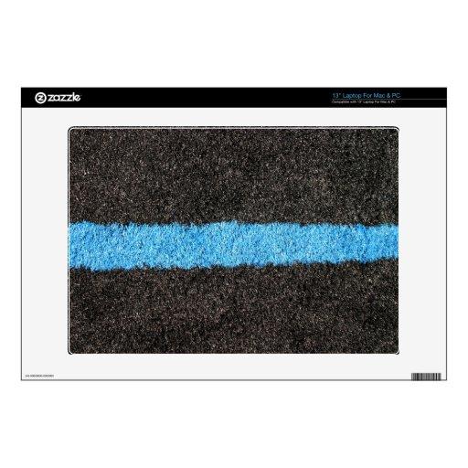 Césped azul negro calcomanía para portátil