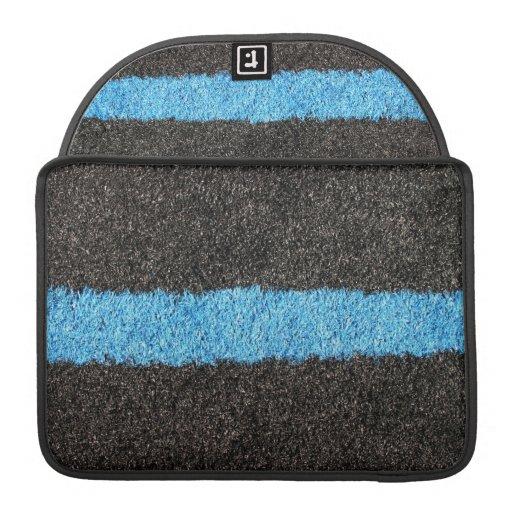 Césped azul negro funda para macbooks