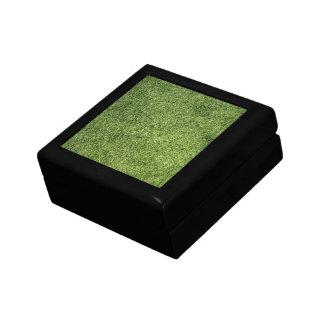 Césped verde cajas de regalo