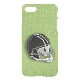Césped verde del casco de fútbol americano funda para iPhone 7