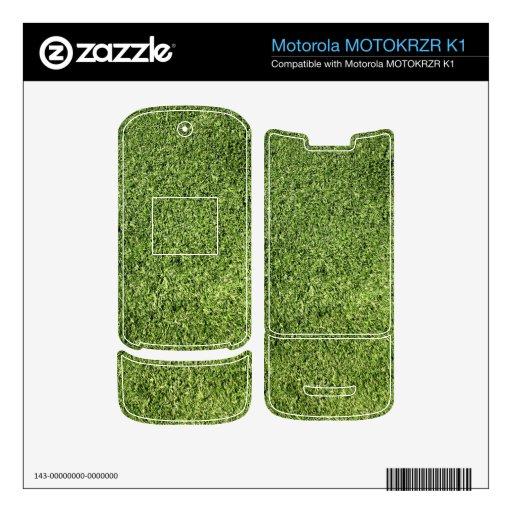 Césped verde motorola MOTOKRZR k1 skin