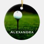 Césped y ornamento personalizado de la pelota de g ornatos